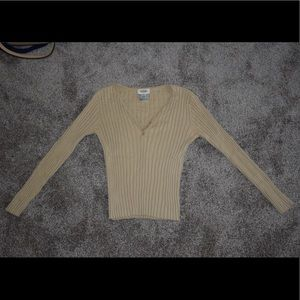 Talbots Wide Ribbed, Super Stretchy, Trendy Top